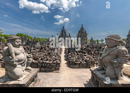 Candi Sewu, part of Prambanan temple complex, a 9th-century Hindu temple compound near Yogyakarta in central Java, - Stock Photo