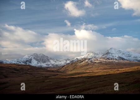 Snowdon Massif, Gwynedd, Wales, UK - Stock Photo