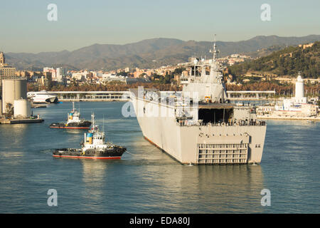 Juan Carlos I L61 multi-purpose amphibious assault ship aircraft carrier of the Spanish Navy - Stock Photo