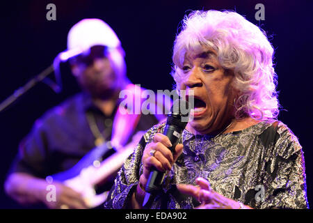 BARCELONA - MAY 15: Old woman of Swamp Dogg (American soul music band), performance at Barts stage on May 15, 2014 - Stock Photo