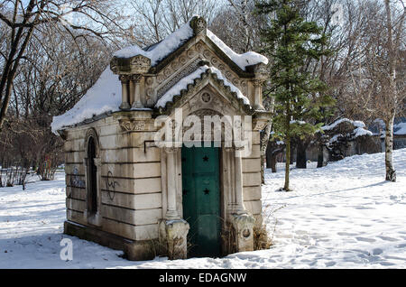 Small mausoleum in a historic Ivancho Mihailov Rousse Bulgaria - Stock Photo