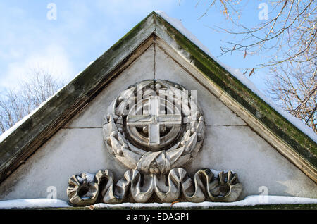 Details of Small mausoleum in a historic Ivancho Mihailov Rousse Bulgaria - Stock Photo