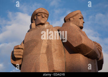 Latvian Rifleman Monument, Riga, Latvia - Stock Photo