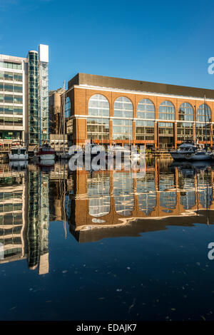 Commodity Quay in St Katharine docks East London is a warehouse redeveloped as offices. - Stock Photo
