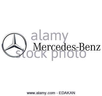 Mercedes Benz logo icon sign - Stock Photo
