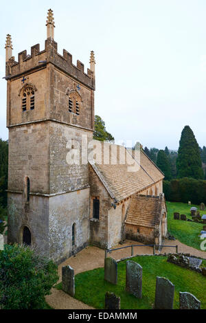 St Mary's A 12th Century Norman Church Within The Grounds Of Cowley Manor Gloucestershire UK - Stock Photo