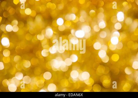 Defocused ligths of Christmas tree - Stock Photo