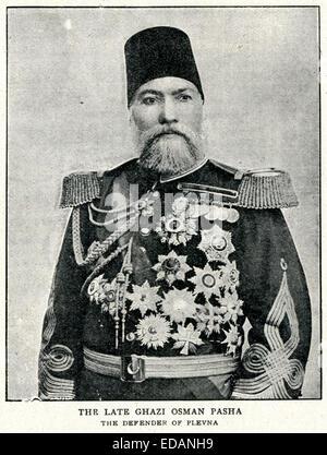Osman Nuri Pasha (1832 to 1900) also known as Gazi Osman Pasha, was an Ottoman field marshal and hero of the Siege - Stock Photo