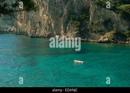 Paleokastritsa bay, Corfu Island, Greece - Stock Photo
