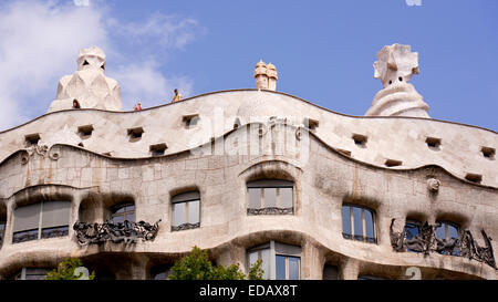 Casa mil also known as La Pedrera - Stock Photo