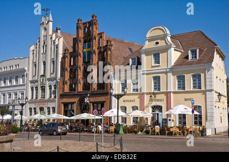 Europe,Germany,  Mecklenburg Western Pomerania, Wismar - Stock Photo