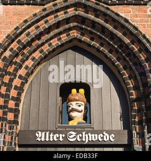 Europa, Deutschland, Mecklenburg-Vorpommern, Wismar, Alter Schwede, Schwedenkopf - Stock Photo