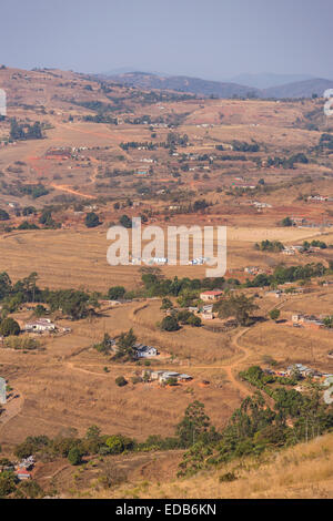 SWAZILAND, AFRICA - Rural settlement, agriculture, and homes. - Stock Photo