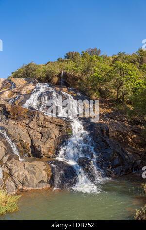 HHOHHO, SWAZILAND, AFRICA - Phophonyane Nature Reserve waterfall. - Stock Photo