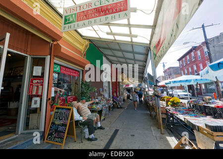 The South 9th Street Italian Market, Philadelphia, Pennsylvania - Stock Photo
