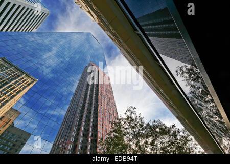Office Building Reflections, Philadelphia, Pennsylvania - Stock Photo