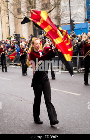 LONDON - JANUARY 1ST: New years day parade  on January the 1st 2015 in London, England, UK. - Stock Photo