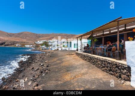 Simple fishing village near Playa Quemada, Puerto Calero, Lanzarote, Canary Islands, Spain - Stock Photo