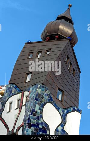 Kunsthaus Abensberg by Peter Pelikan, exhibition hall Friedensreich Hundertwasser at the Kuchlbauer Brauerei brewery, - Stock Photo