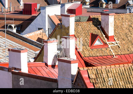 View on the roofs of the old town, Tallinn, Estonia - Stock Photo
