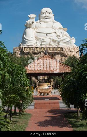 Buddha sculpture, amusement park, Vung Tau, Vietnam - Stock Photo