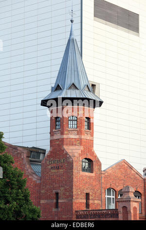 Tower, Centrale Moabit, historic Berlin power station, listed area of the Moabit power station, Moabit, Mitte district, - Stock Photo