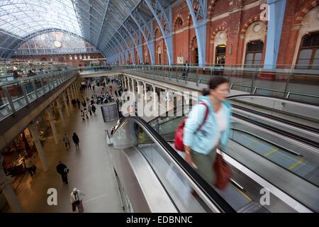 King's Cross St Pancras station. - Stock Photo