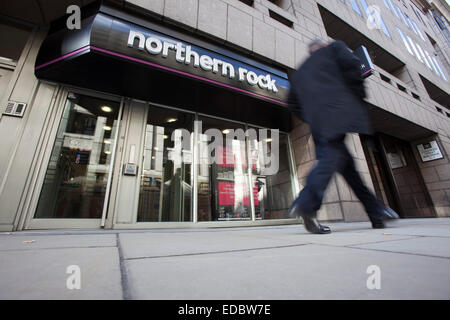 Exterior of a Northern Rock branch. - Stock Photo