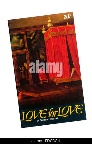 Programme for the 1985 production of Love for Love by William Congreve at the Lyttelton Theatre. - Stock Photo