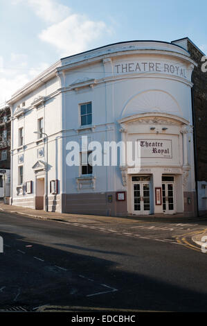 The Theatre Royal in Margate dates from 1787 and is Grade II* listed. It was extensively altered internally in the - Stock Photo