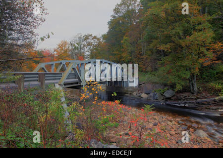 A bridge in rural West Virginia on Red Creek near Dolly Sods. - Stock Photo