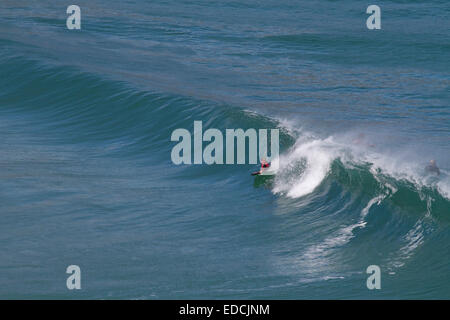Surfer. Ocean. Waves. Bettysbaai, Betty's Bay. Western Cape. South Africa. Tourism. Kleinmond. Sea. Holiday destination. - Stock Photo