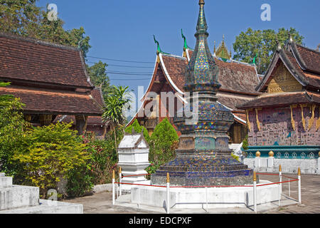 Wat Xieng Thong / Temple of the Golden City, Buddhist temple at Luang Prabang, Louangphrabang Province, Laos - Stock Photo