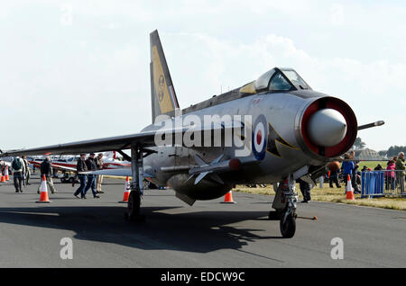 English Electric Lightning F3 fighter aircraft at Leuchars Air Show, Scotland, 2013. - Stock Photo