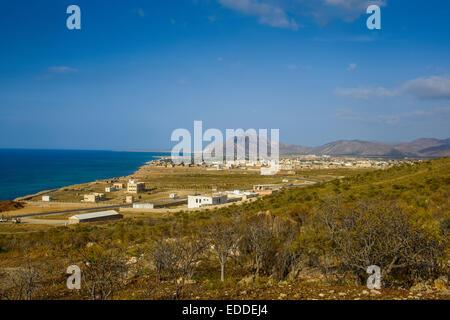 Coastline, Hadibu, island of Socotra, Yemen - Stock Photo