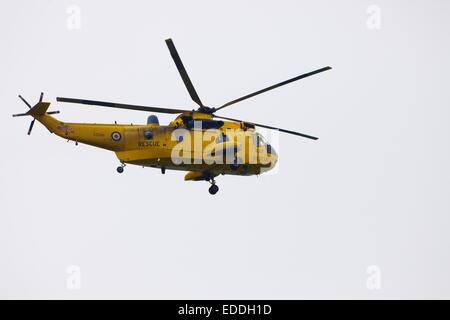 Royal Air Force search and rescue Westland Sea King helicopter. - Stock Photo