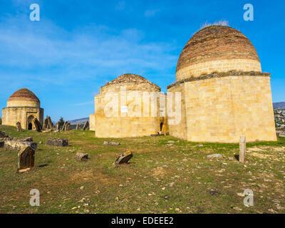 Yeddi Gumbez Mausoleum located at the foot of Gulistan Fortress, Shamakhi, Azerbaijan - Stock Photo