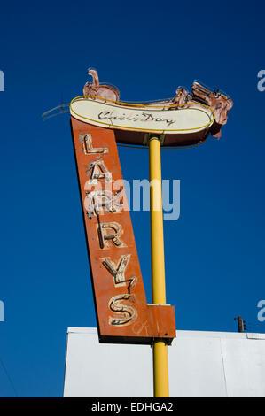 Larry's Chili Dog sign in Burbank, California - Stock Photo
