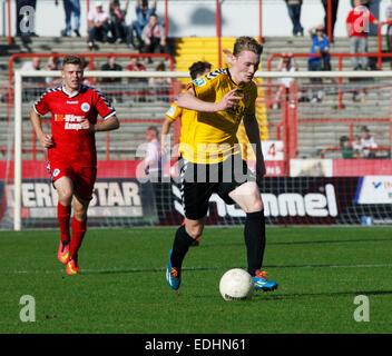 sports, football, Regional League West, 2014/2015, Rot Weiss Oberhausen versus KFC Uerdingen 05 1:2, Stadium Niederrhein - Stock Photo