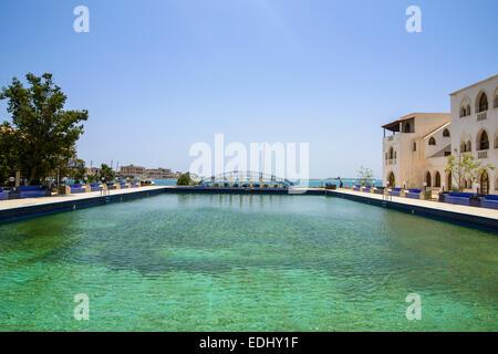 Pool of a luxury hotel, Massawa, Eritrea - Stock Photo