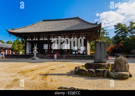 Kofuku-ji wooden tower in Nara, Japan. One of the eight Unesco world heritage sites in Nara. - Stock Photo