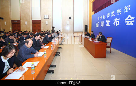 Beijing, China. 7th Jan, 2015. Huang Shuxian (2nd R), deputy secretary of the Communist Party of China's (CPC) Central - Stock Photo