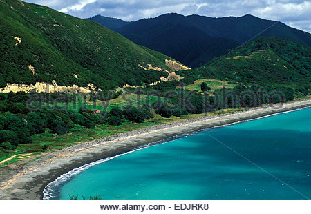 Bay of Plenty Opikiti where the Maori settled, North island, New Zealand. - Stock Photo