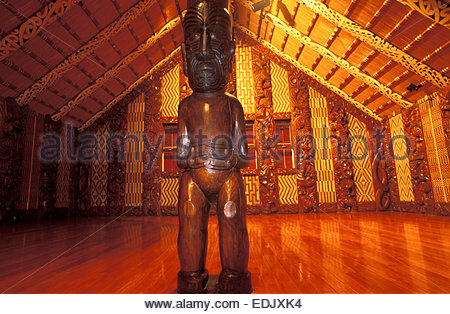 Marae of Waitangi, North Island, New Zealand. - Stock Photo