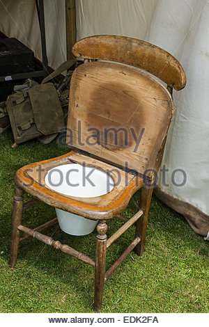 ... Old Fashioned Chair Commode   Stock Photo