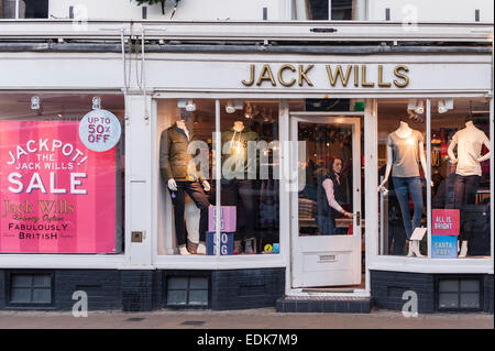 The Jack Wills shop store at Southwold , Suffolk , England , Britain , Uk - Stock Photo