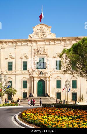 Auberge de Castille (Office of the prime minister) Valletta Malta EU Europe - Stock Photo