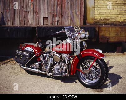 1948 Harley Davidson FL - Stock Photo