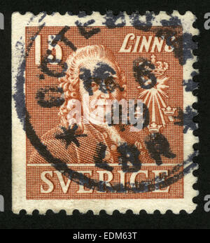 Sweden, postage stamp - Stock Photo