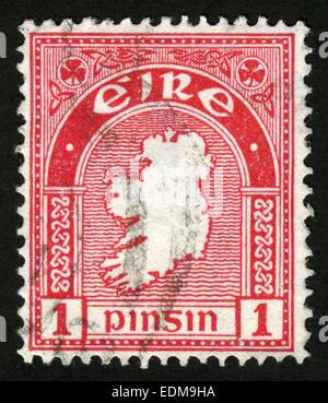 Ireland, 'Map of Ireland': the first Irish postage stamp, 1922 - Stock Photo